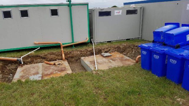 Fowl drain holding tanks